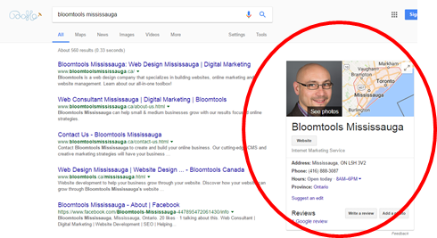 Bloomtools Mississauga Google My Business