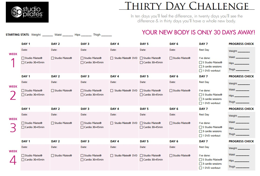 Would you like a new body in 30 days? Take the Studio Pilates Thirty ...